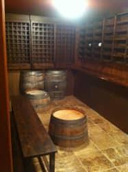 Custom wine cellar by Girard Builders