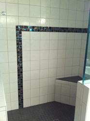 Custom tiled shower by Girard Builders