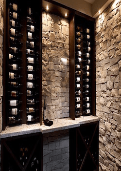 Custom Wine Cellar With Stone