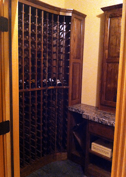 Custom Wine Cellar With Wood