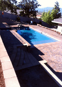 Brick Patio Around Pool
